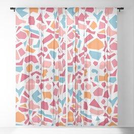 terrazzo 003 Sheer Curtain