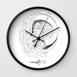 The girl and the bird Wall Clock