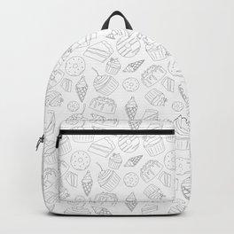 Sweets & Treats - Black & White Backpack
