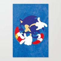 sonic youth Canvas Prints featuring Sonic by JHTY