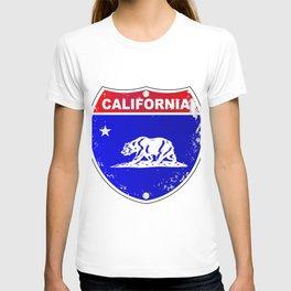 California Interstate Sign T-shirt