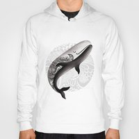 the whale Hoodies featuring Whale by Margarita Kukhtina