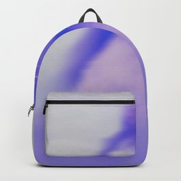 blurry blue woman Backpack