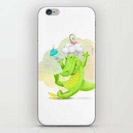 Slippery gator iPhone Skin