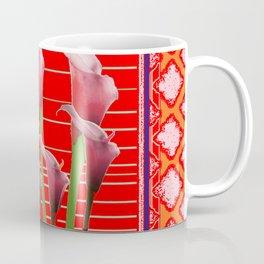 RED Orange Calla Lily Art Coffee Mug