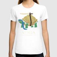 ninja turtle T-shirts featuring ninja - blue by Louis Roskosch