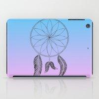 dreamcatcher iPad Cases featuring Dreamcatcher by #dancingpenguin