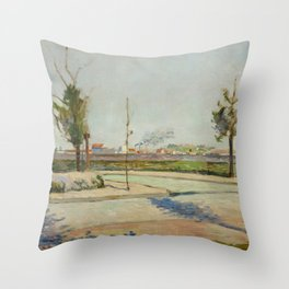 Road to Gennevilliers Throw Pillow