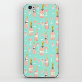 Rose champagne wine food fight apparel and gifts iPhone Skin