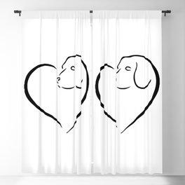I LOVE BEAGLE Blackout Curtain