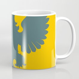 blue-gray double-headed eagle on yellow background Coffee Mug