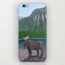 Moose at Akamina Lake iPhone Skin