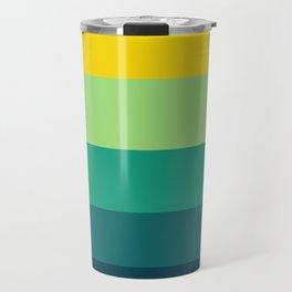 Turquoise & Yellow Geometric Pattern Travel Mug