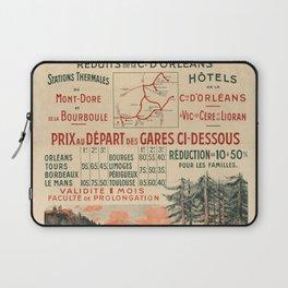 Vintage French Travel Poster: Visit Auvergne (1900s) Laptop Sleeve