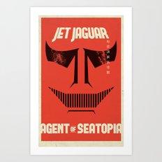 Jet Jaguar! Art Print