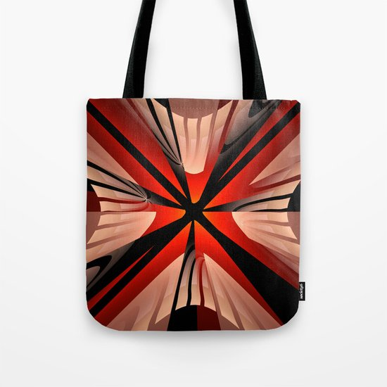 Winter abstract with red Tote Bag