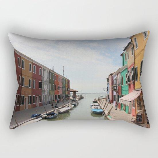 Burano in Venezia Rectangular Pillow