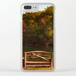 Fall shows us how beautiful it is to let things go Clear iPhone Case