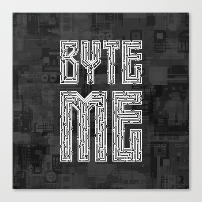 Byte Me Canvas Print