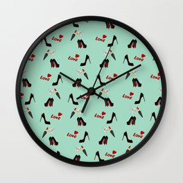 Shoes With Love Wall Clock