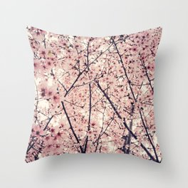 Blizzard of Blossoms Throw Pillow