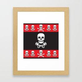 Skull n Pistons Classic Framed Art Print