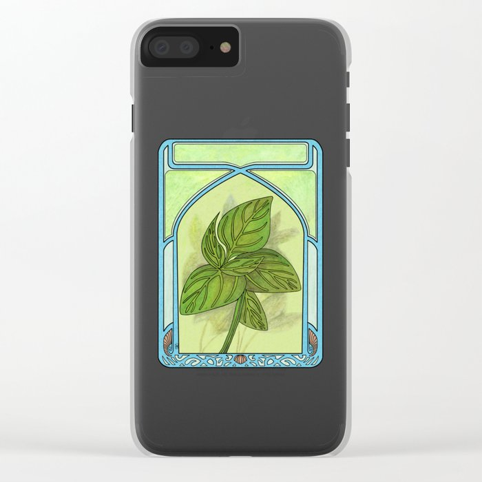 Art nouveau. Basil. Clear iPhone Case