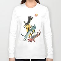 cats Long Sleeve T-shirts featuring Cats by ShangheeShin