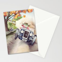 He was Toad once more - The Wind in the Willows - By Kenneth Grahame Stationery Cards