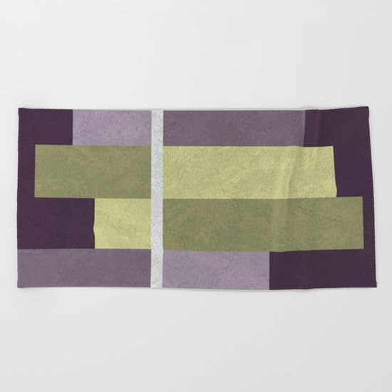 Geometric Marble 05 (abstract) Beach Towel