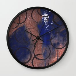 Abstract circles painting Wall Clock