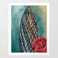 Gherkin Building Art Print