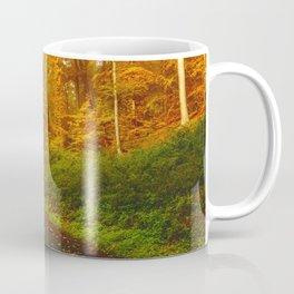 Autumn Forest Road (Color) Coffee Mug
