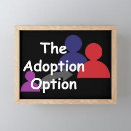 """The Adoption Option"" TV Show Logo Framed Mini Art Print"
