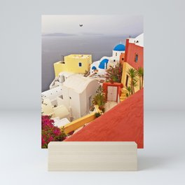Oia, Santorini, Greece Color Explosion Mini Art Print