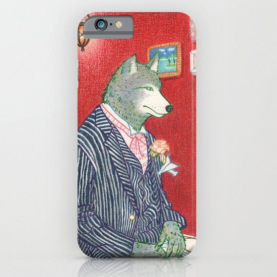 Everyday Animals - Mr Wolf gets ready for his wedding iPhone & iPod Case