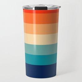 7 Colorful Retro Summer Stripes Bamola Travel Mug