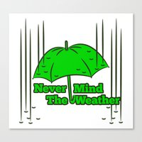 umbrella Canvas Prints featuring Umbrella by mailboxdisco