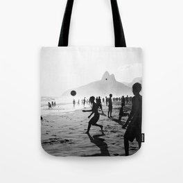 Beach Soccer at Ipanema Tote Bag