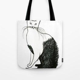 Cat wearing fur. Tote Bag