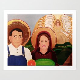 St. Isidore and St. Maria, Farm Workers' Saint  Art Print