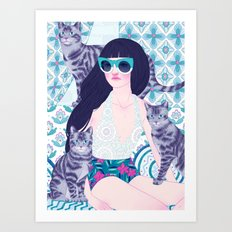 Hey there kitty! CYON Art Print