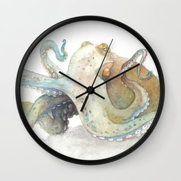 Watercolor Octopus Wall Clock