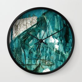 """The Process"". Phthalo Green Series, No 3. Wall Clock"