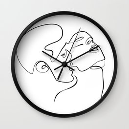 Sensual Kiss Wall Clock