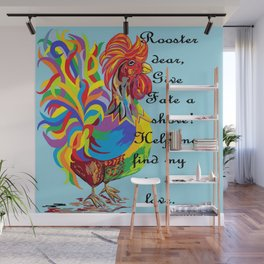 German Folklore Roosters and Husbands Wall Mural