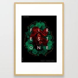 Firestone - Kygo ft. Conrad Sewell (Song Poster) Framed Art Print