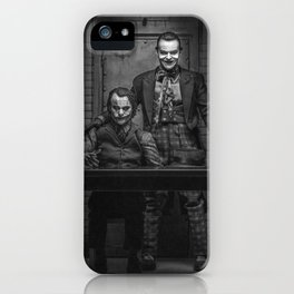 The Jokers in black and white iPhone Case