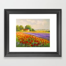 Flowers of Provence Framed Art Print