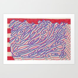 Compression artifact resulting from excessive tendril density Art Print